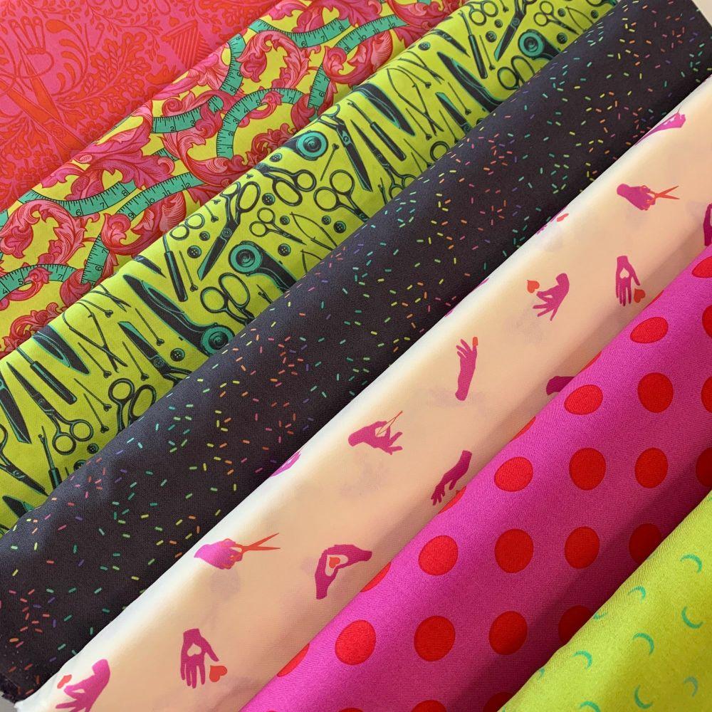 GillyMac Designs Virtual Retreat Fabric Kit - Tula Pink HomeMade Morning