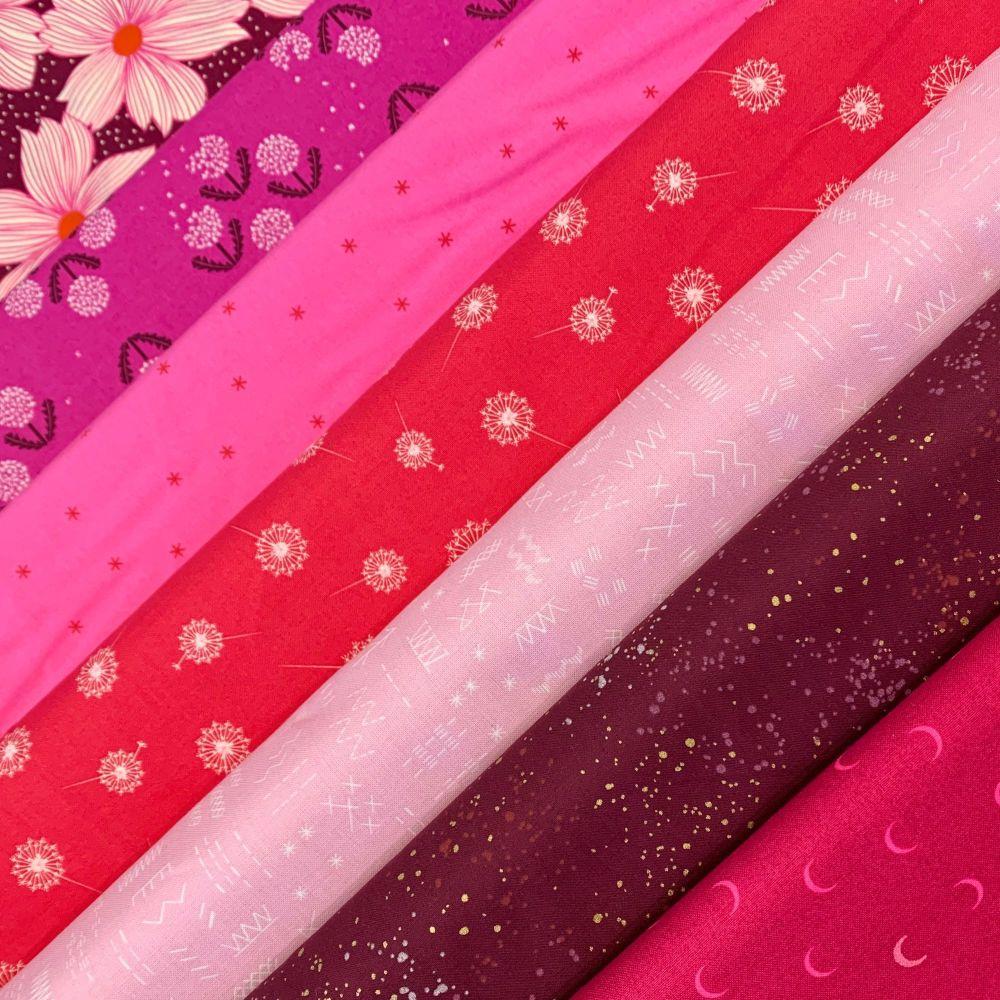 GillyMac Designs Virtual Retreat Fabric Kit - Ruby Star Society Crescent Ni