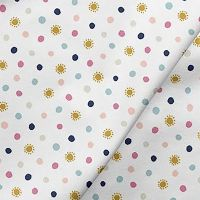 Over The Rainbow Sunshine Dots Suns Mini Spots Cotton Fabric