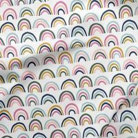 Over The Rainbow Doodle Mini Rainbows Multi Cotton Fabric