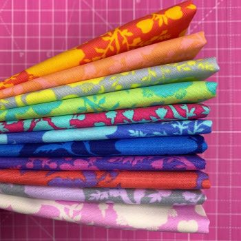 IN STOCK True Colors Wildflower LJF Rainbow Tula Pink 11 Long Quarter 9 Inch Strip  Bundle Cotton Fabric Cloth Stack