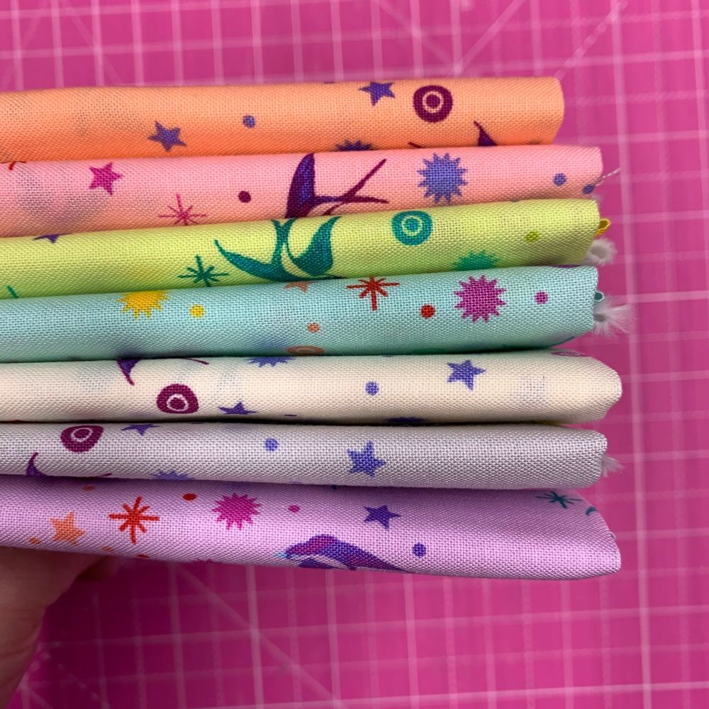 IN STOCK True Colors Fairy Dust LJF Rainbow Tula Pink 7 Fat Quarter Bundle