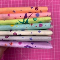 IN STOCK True Colors Fairy Dust LJF Rainbow Tula Pink 7 Fat Quarter Bundle Cotton Fabric Cloth Stack