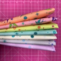 IN STOCK True Colors Fairy Dust LJF Rainbow Tula Pink 7 Long Quarter 9 Inch Strip Bundle Cotton Fabric Cloth Stack