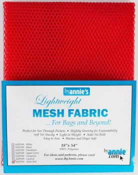 By Annie Lightweight Mesh Fabric Atom Red 18 in x 54 in