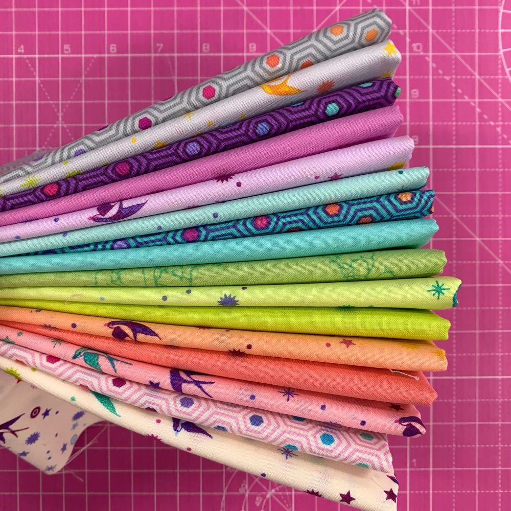 IN STOCK True Colors Fairy Dust LJF Rainbow Tula Pink 7 Long Quarter 9 Inch