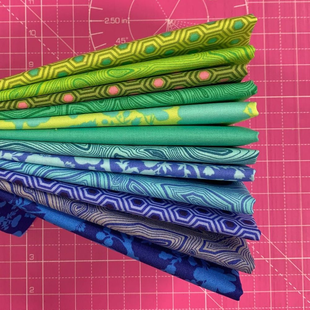 IN STOCK True Colors Rainforest Sky LJF Curated Rainbow Tula Pink 12 Long Q