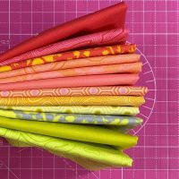 True Colors Sunset Boulevard LJF Curated Rainbow Tula Pink 12 Long Quarter 9 Inch Strip Bundle Cotton Fabric Cloth Stack