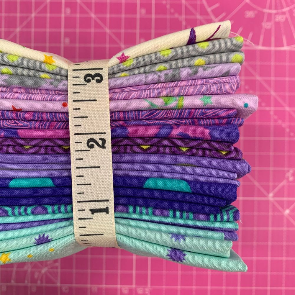 IN STOCK True Colors LJF Tula Pink Peacock 16 Fat Quarter Bundle Cotton Fab