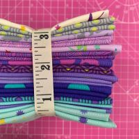 True Colors LJF Tula Pink Peacock 16 Fat Quarter Bundle Cotton Fabric Cloth Stack Full Collection