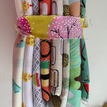 DESTASH DAILY DEALS Bundle Foodie Cotton Fabric Stash Stack