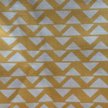 DESTASH DAILY DEALS Yellow Triangles Fabric Minimum 2.75m
