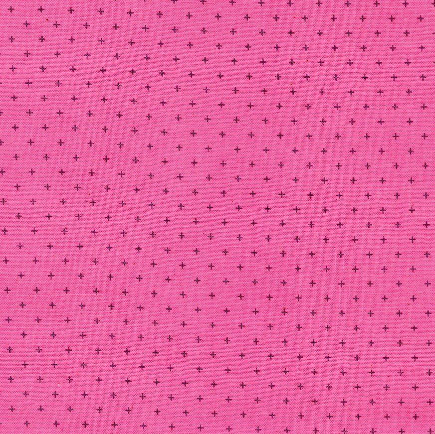 Cotton + Steel Basics Add It Up Lip Gloss Pink Unbleached Plus Cross Blende