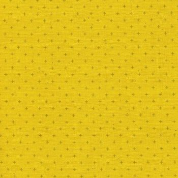 Cotton + Steel Basics Add It Up Bananas Yellow Unbleached Plus Cross Blender Coordinate Cotton Fabric