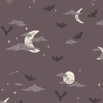 Spooky 'n Sweet Batty Over You in Night Halloween Bats Night Sky Hallowe'en Cotton Fabric
