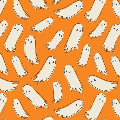 Spooky 'n Sweet Pick-a-Boo Ghosts in Pumpkin Halloween Ghost Hallowe'en Cot