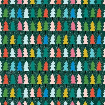 Figo Wintertide Christmas Trees Festive Tree Cotton Fabric