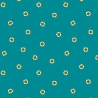 Figo Sunkissed Tiny Tubes Teal Rubber Ring Life Buoys Sea Nautical Seaside Vacation Cotton Fabric