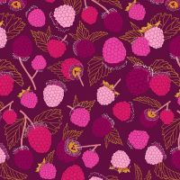 Figo Sangria Raspberries Fruit Raspberry Cotton Fabric