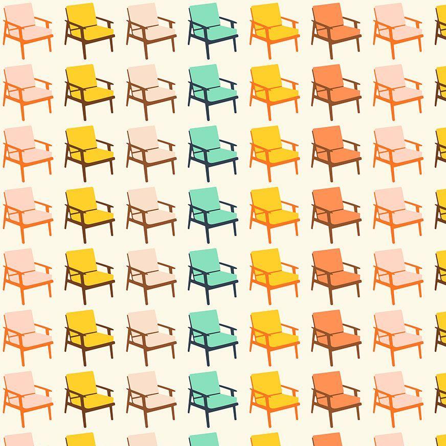 Figo Butterscotch Chairs White Furniture Chair Geometric Cotton Fabric