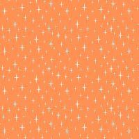 Figo Butterscotch Starlight Orange Stars Geometric Cotton Fabric