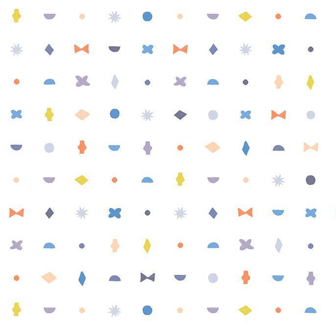Figo DIY Stamps Geometric Shapes Icons Cotton Fabric