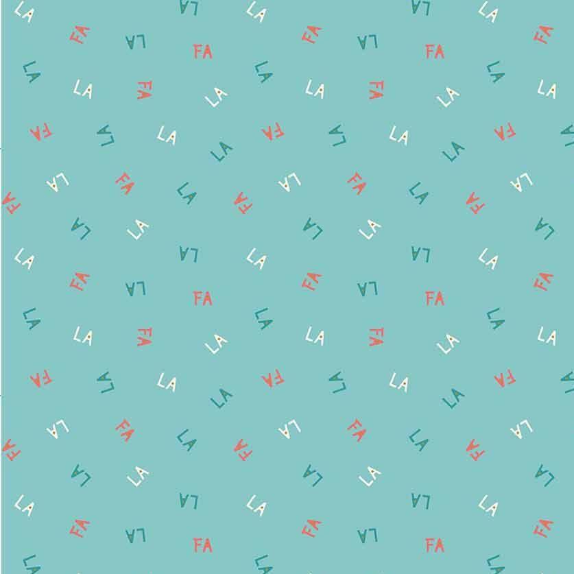 Figo Polar Magic Christmas Fa La La La La Mint Letters Text Festive Cotton