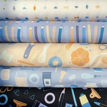 DIY 5 Fabrics Fat Quarter Bundle Cloth Stack FQ Figo Cotton Fabric