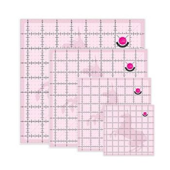 Tula Pink Hardware 4 Piece Unicorn Cutting Square Quilting Ruler Set