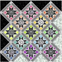 PRE-ORDER LINEWORK Tula Pink Opening Night Quilt Kit with Fabric Only - Pattern Available online from FreeSpirit Fabrics
