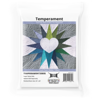 Temperament by Courtney Reed Quilt Pattern & EPP English Paper Piecing Paper Piece Small Pack (Makes 1 Block)
