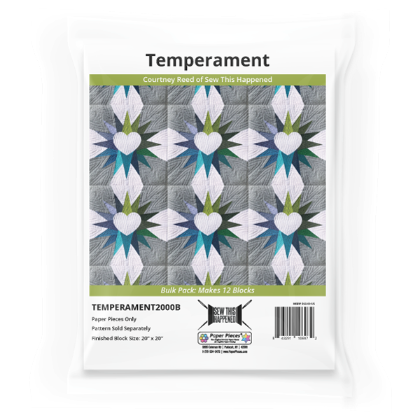Temperament by Courtney Reed Quilt Pattern & EPP English Paper Piecing Pape