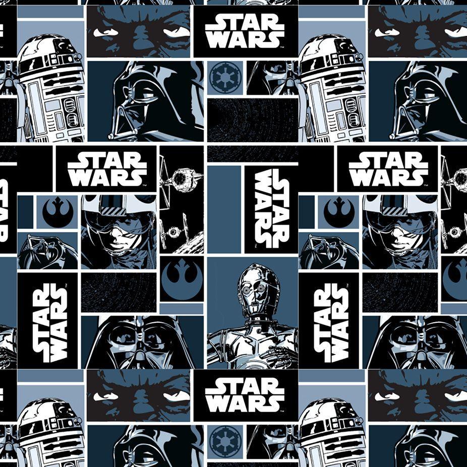Star Wars Immortals Characters Blocks Monochrome Darth Vader Jedi R2-D2 C-3