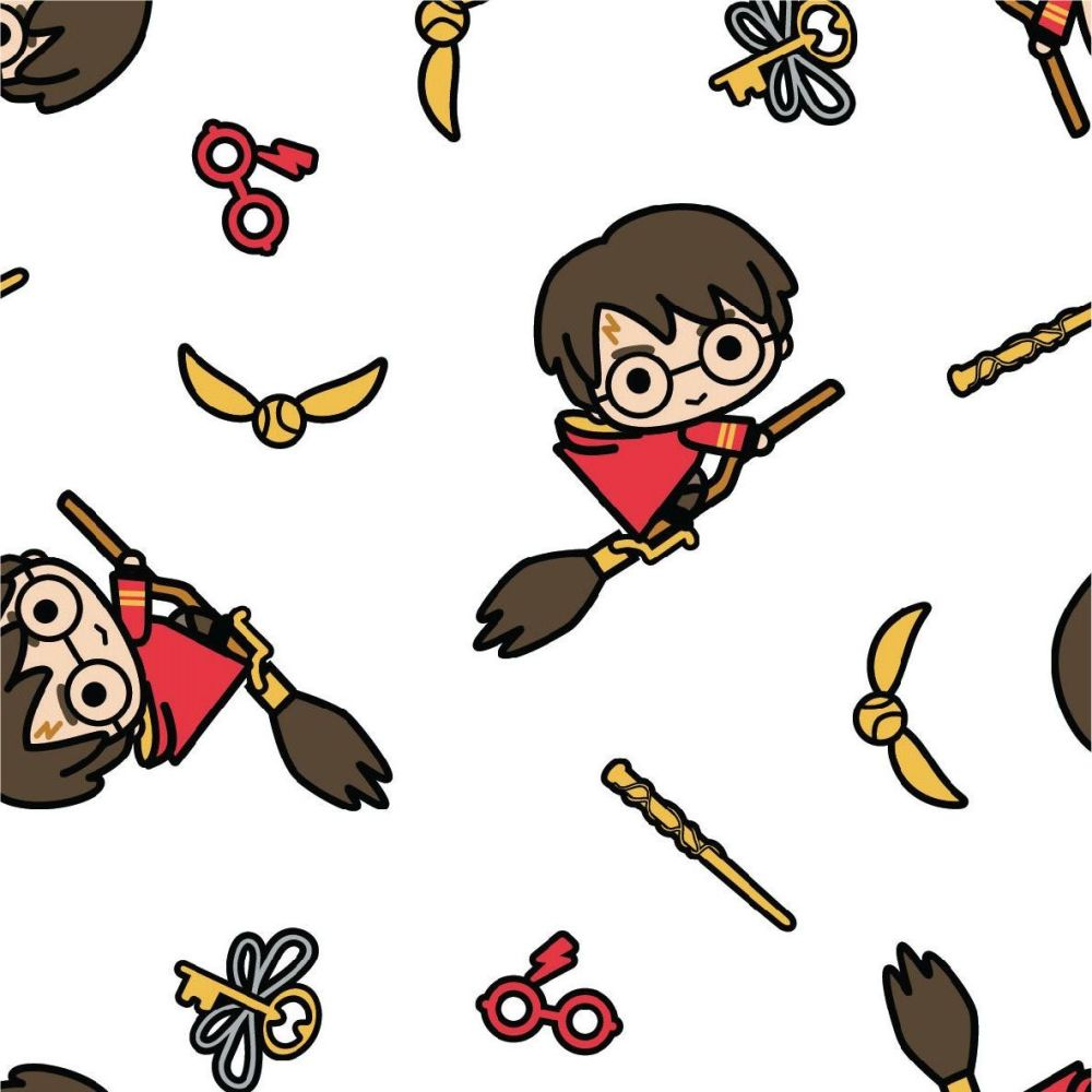 Harry Potter Kawaii Quidditch White DELUXE Broomstick Golden Snitch Hogwart