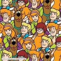 Scooby Doo Packed Shaggy Fred Daphne Velma Hannah-Barbera Classic Cartoon Cotton Fabric