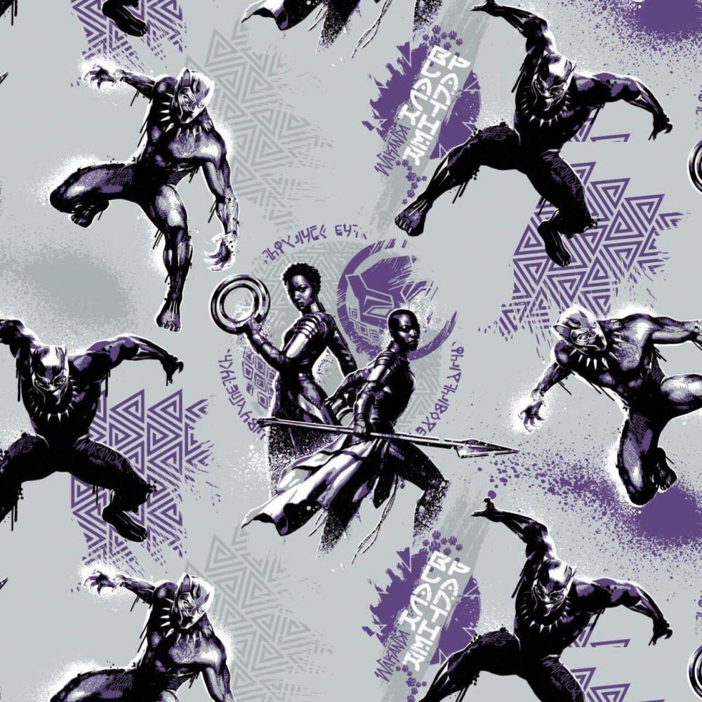 Marvel Black Panther Wakandas Character Purple Wakanda Tribal Comic Movie S