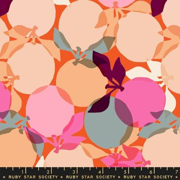 Clementine Sunrise Ruby Star Society Melody Miller Cotton Fabric