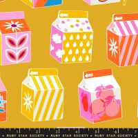 Clementine Juicy Goldenrod Juice Box Ruby Star Society Melody Miller Cotton Fabric