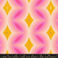 Clementine Rattan Sunshine Metallic Geometric Ruby Star Society Melody Miller Cotton Fabric