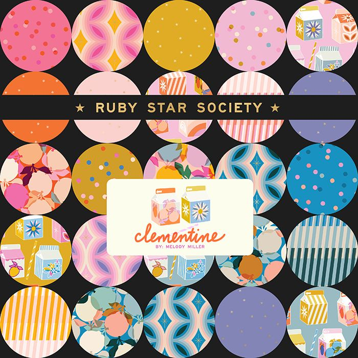 Clementine Ruby Star Society Melody Miller 20 Full Collection Fat Quarter B