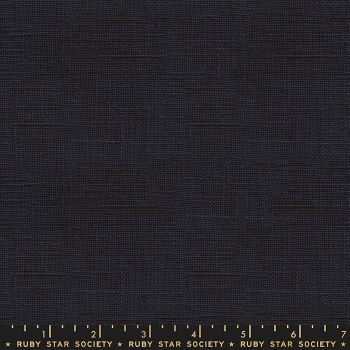 Warp and Weft Wovens Chore Coat Navy Alexia Abegg Ruby Star Society Cotton Fabric