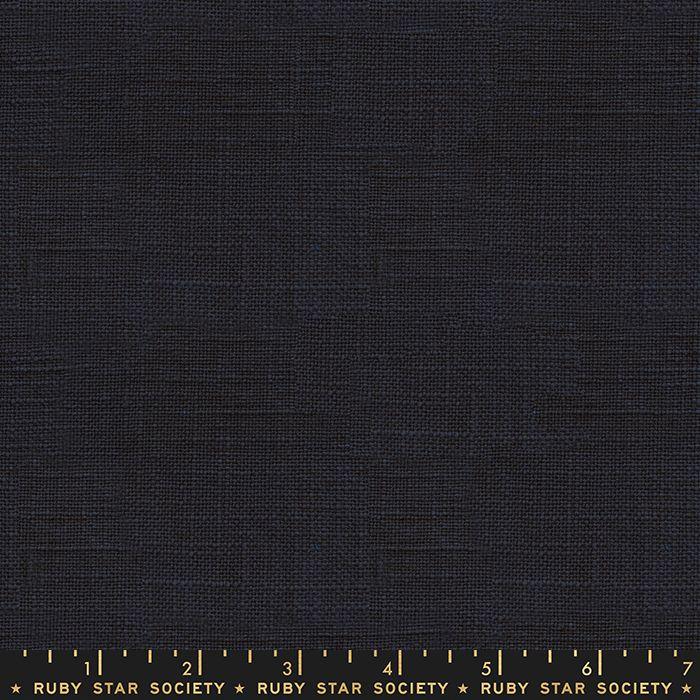 Warp and Weft Wovens Chore Coat Navy Alexia Abegg Ruby Star Society Cotton