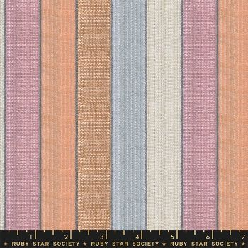 Warp and Weft Wovens Jubilee Sprinkles Stripe Alexia Abegg Ruby Star Society Cotton Fabric