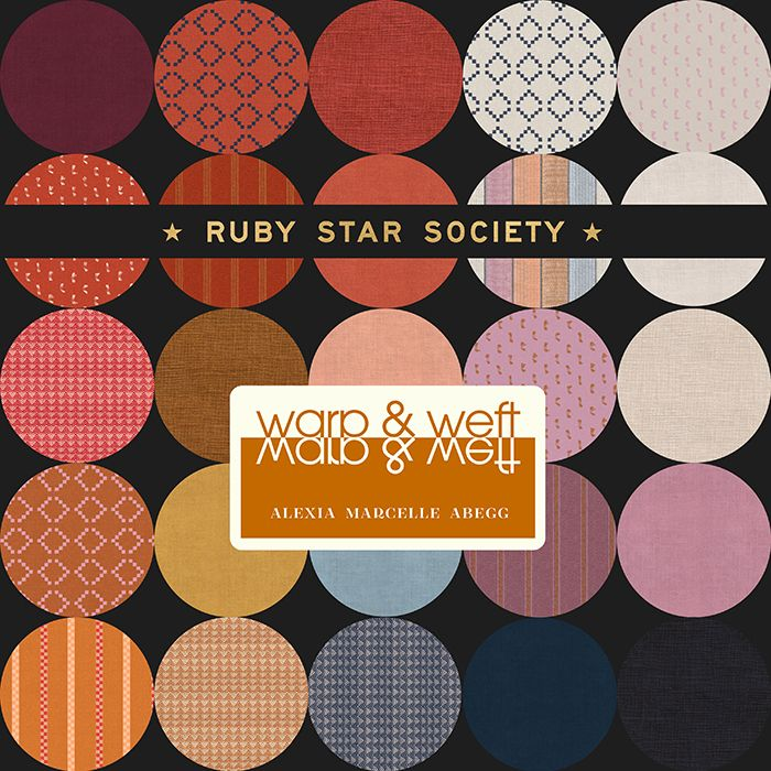 Warp and Weft Wovens Ruby Star Society Melody Miller 28 Full Collection Fat