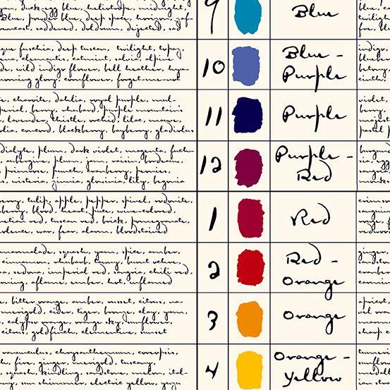 Prism Colors Parchment Colour Palette Painter Notes Giucy Giuce Cotton Fabr