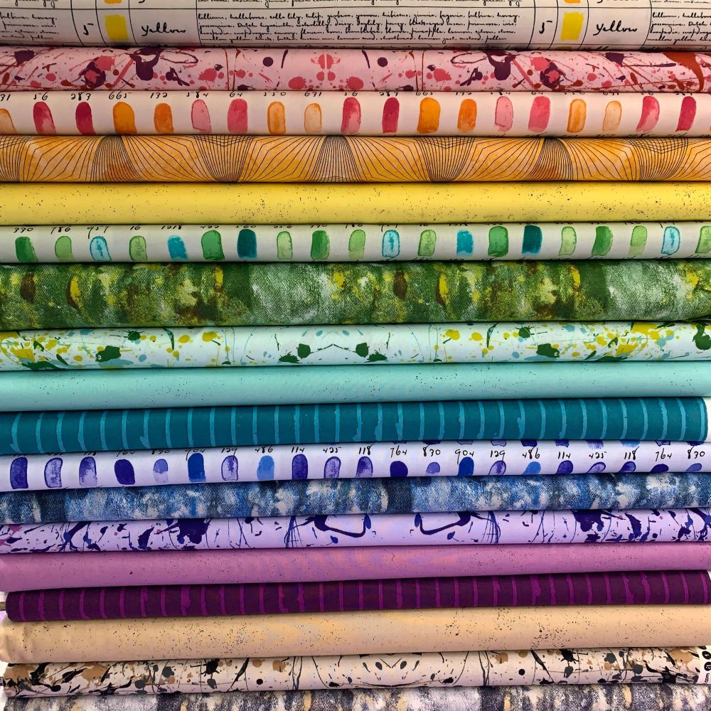 Giucy Giuce Prism 18 Fat Quarter Bundle Cotton Fabric Cloth Stack