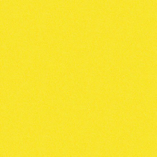 Libs Elliott Phosphor Neon Yellow 9354-Y Printed Denim Texture Cotton Fabri