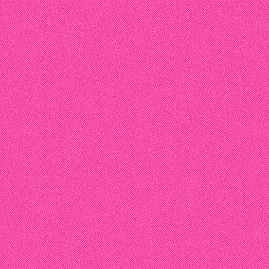 Libs Elliott Phosphor Glow Pink 9354-E Printed Denim Texture Cotton Fabric