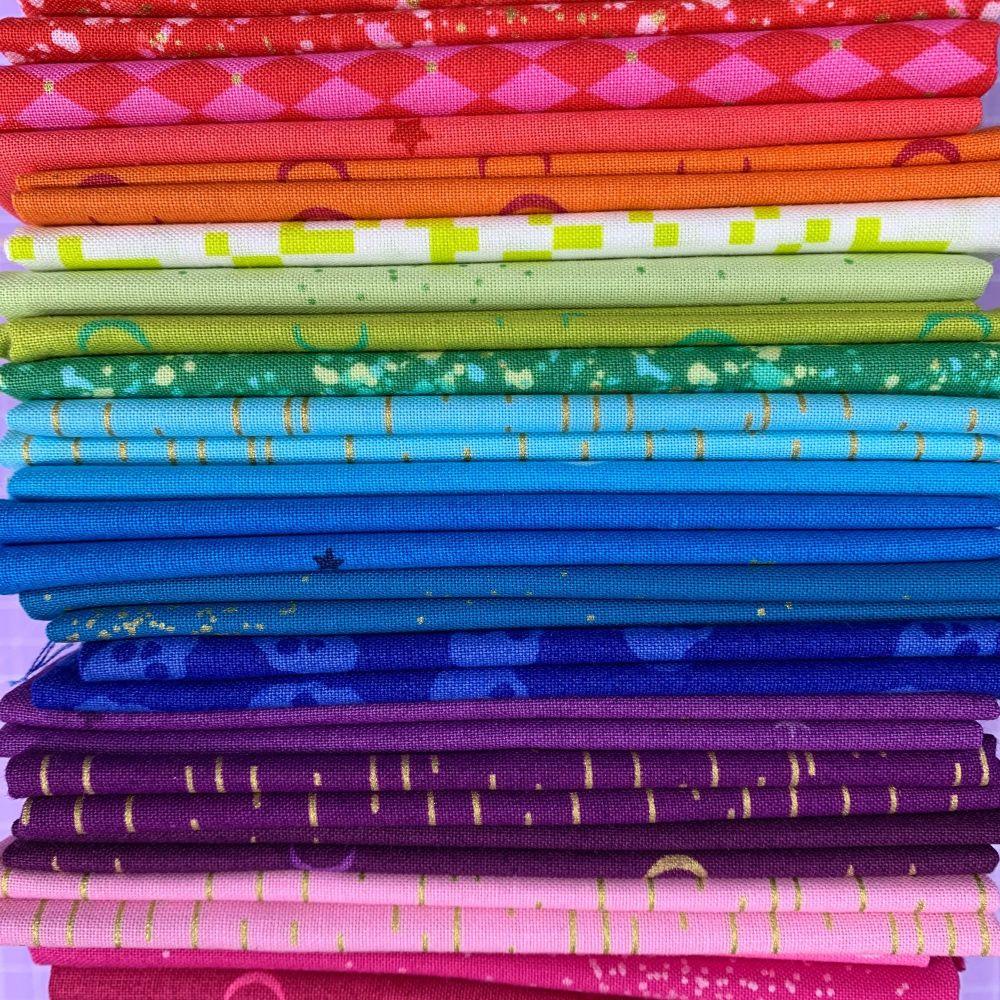 Limited Edition Libs Elliott Rainbow 20 Fat Quarter Bundle Cotton Fabric Cl