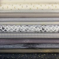Limited Edition Libs Elliott Neutral Monochrome 12 Fat Quarter Bundle Cotton Fabric Cloth Stack